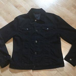 Like New Jag Black Washed Jean Jacket. NICE